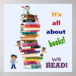 Está todo sobre el poster de los libros