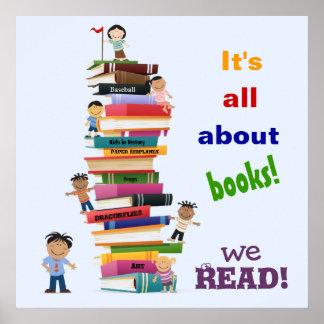 Está todo sobre el poster de los libros póster