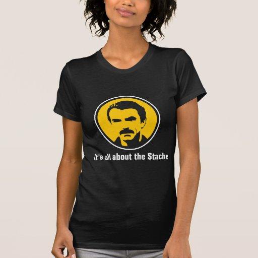 Está todo sobre el Stache Camisetas