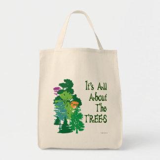 Está todo sobre el tote verde del lema de los bolsa tela para la compra