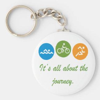 Está todo sobre el viaje - Triathlon Llaveros Personalizados