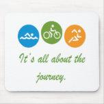 Está todo sobre el viaje - Triathlon Alfombrilla De Ratón