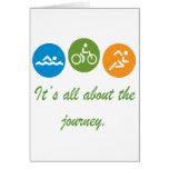 Está todo sobre el viaje - Triathlon Tarjeta De Felicitación