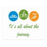 Está todo sobre el viaje - Triathlon Tarjeta Postal