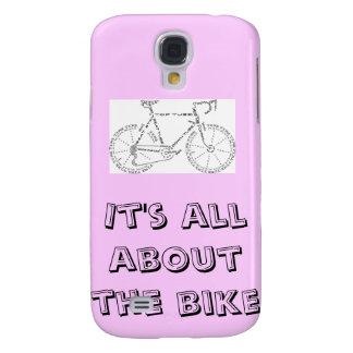 Está todo sobre la bici - rosa funda para galaxy s4