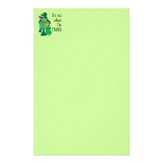 Está todo sobre los efectos de escritorio verdes d  papeleria