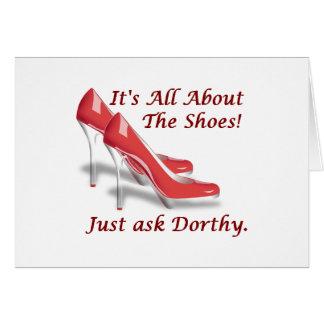 Está todo sobre los zapatos tarjeta de felicitación