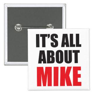Está todo sobre Mike personalizó el botón Pins