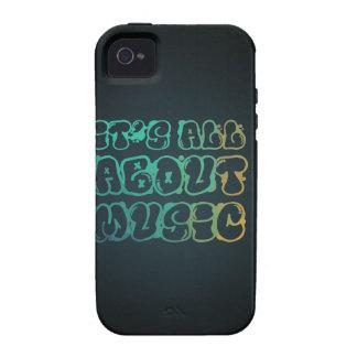 Está todo sobre música - la música es amor, música iPhone 4/4S fundas