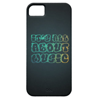 Está todo sobre música - la música es amor, música iPhone 5 fundas