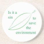 Está un pecado para ahorrar el ambiente