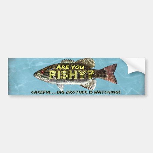 Está USTED bumpersticker a pescado Etiqueta De Parachoque