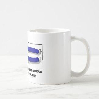 ¿Está usted en el centrómero o Telomere de la vida Taza De Café