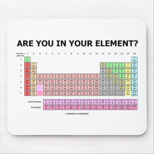 ¿Está usted en su elemento? (Humor de la tabla Tapetes De Raton