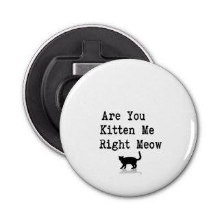 Está usted gatito yo maullido correcto abrebotellas redondo