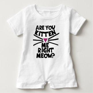 Está usted gatito yo maullido correcto body para bebé