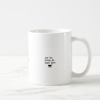 Está usted gatito yo maullido correcto taza clásica
