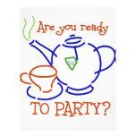 ¿Está usted listo para ir de fiesta? Flyer Personalizado
