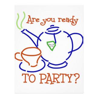 ¿Está usted listo para ir de fiesta Flyer Personalizado