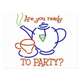 ¿Está usted listo para ir de fiesta? Postales