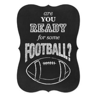 """¿está usted listo para un cierto fútbol? invitación 5"""" x 7"""""""