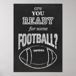 ¿está usted listo para un cierto fútbol? póster