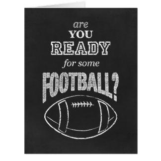 ¿está usted listo para un cierto fútbol? tarjeta de felicitación grande