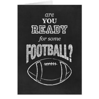 ¿está usted listo para un cierto fútbol? tarjeta pequeña