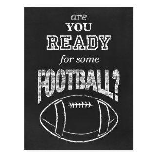 ¿está usted listo para un cierto fútbol? tarjeta postal