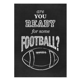 ¿está usted listo para un cierto fútbol? tarjetas de visita grandes
