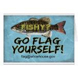 Está USTED Notecard a pescado Felicitacion