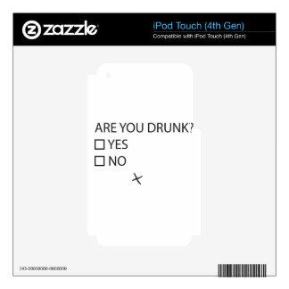 Está usted prueba bebida skins para iPod touch 4G
