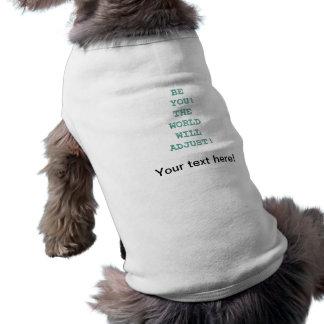 Está usted texto inspirado playera sin mangas para perro