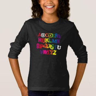 Está usted tipografía divertida del arco iris del playera