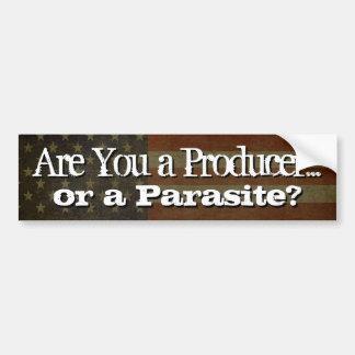 Está usted un productor…. ¿o un parásito? etiqueta de parachoque