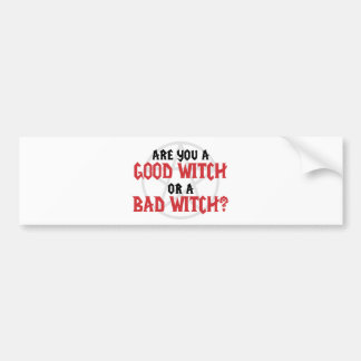 Está usted una buena bruja o una mala bruja pegatina para auto