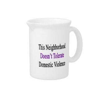 Esta vecindad no tolera Violen nacional Jarras