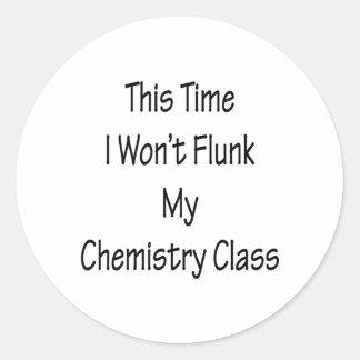 Esta vez no flunk mi clase de química etiquetas redondas
