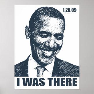 ¡ESTABA ALLÍ! Historia de la inauguración de Obama Póster
