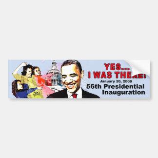 ESTABA ALLÍ inauguración de Obama Pegatina Para Auto