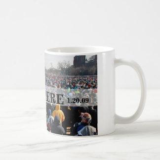 ESTABA ALLÍ: Muchedumbre en presidente Obama Inaug Taza De Café