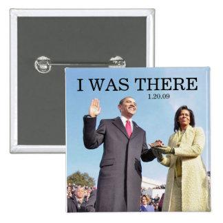 ESTABA ALLÍ: Obama que jura en ceremonia Pin Cuadrada 5 Cm