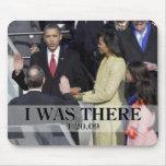 ESTABA ALLÍ: Obama que jura en ceremonia Alfombrilla De Ratón