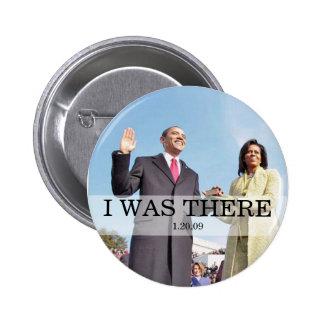 ESTABA ALLÍ: Obama que jura en la inauguración Pin Redondo 5 Cm