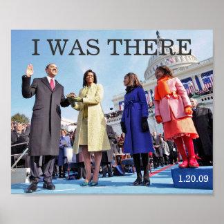 ESTABA ALLÍ: Presidente Obama Inauguration Póster