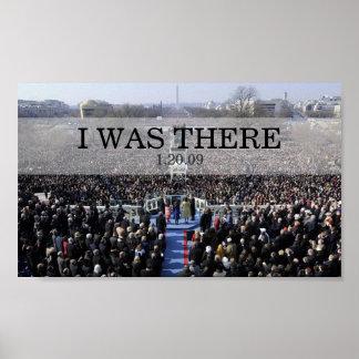 ESTABA ALLÍ: Presidente Obama Swearing In Ceremony Póster