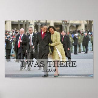 ESTABA ALLÍ: Presidente y señora Obama Inauguratio Posters