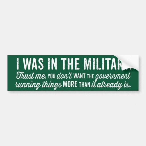 Estaba en los militares pegatina para auto