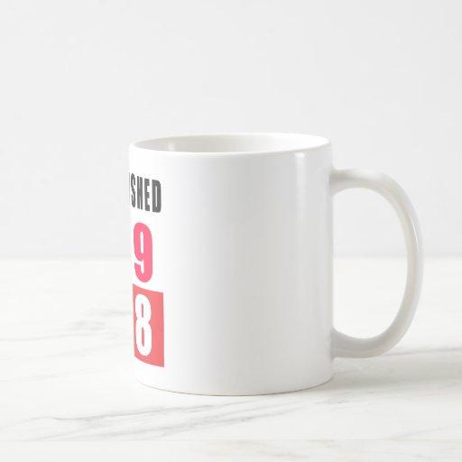 Establecido 1948 diseños del cumpleaños taza de café