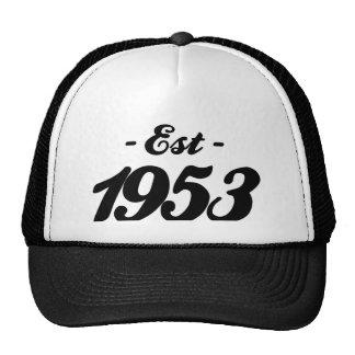 establecido 1953 - cumpleaños gorras